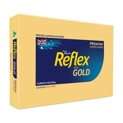 Copy Paper A4 80gsm Reflex Colour Gold Ream of 500 sheets