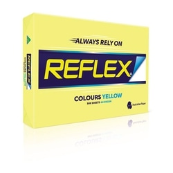 Copy Paper A4 80gsm Reflex Colour Yellow Ream of 500 sheets