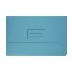 Bantex Document Wallet Board Foolscap 230gsm Blue