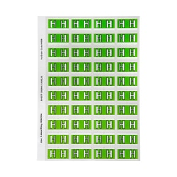 Avery H Side Tab Colour Coding Labels for Lateral Filing 42 x 25 mm Light Green 240 Labels (44508)