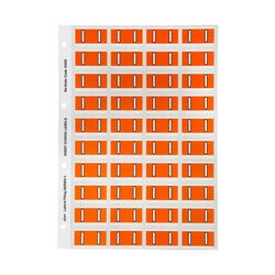 Avery I Side Tab Colour Coding Labels for Lateral Filing 42 x 25 mm Orange 240 Labels (44509)