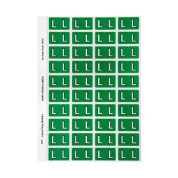 Avery L Side Tab Colour Coding Labels for Lateral Filing 42 x 25 mm Dark Green 240 Labels (44512)