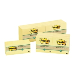 3M Post It 655 76x127 100% Recycled Yellow