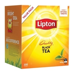 Lipton Black Tea Tagged Teabags 200 Pack