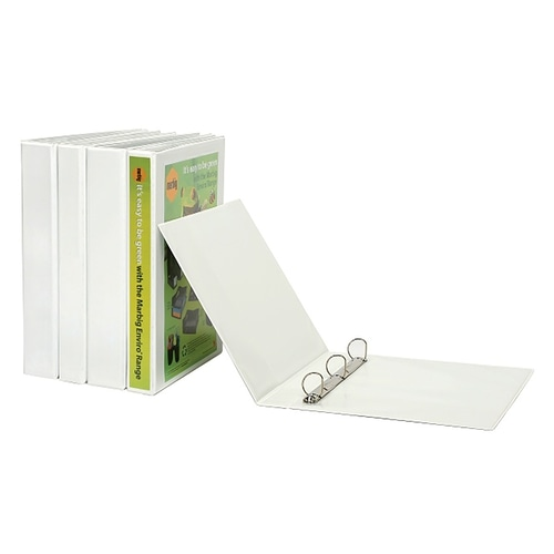 Marbig Clearview Insert Binder A4 65mm 4D White
