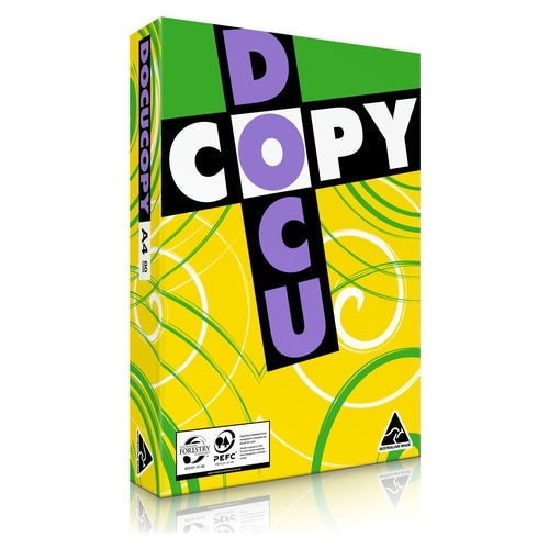 Copy Paper A4 80gsm Docucopy White - Sold per Ream of 500 sheets (Min 5 Reams)