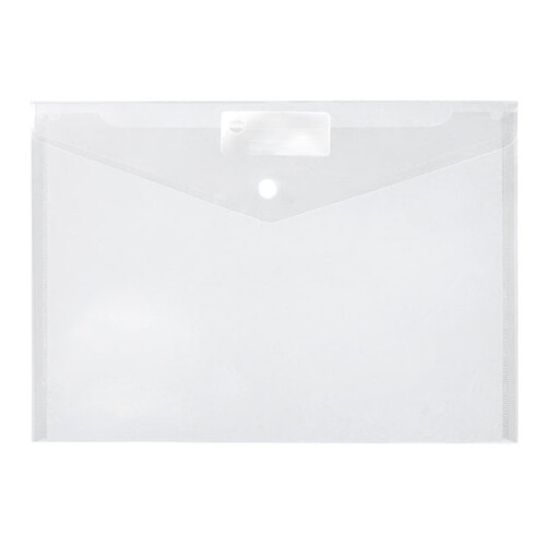 Document Wallet Button A4 Clear Doculope
