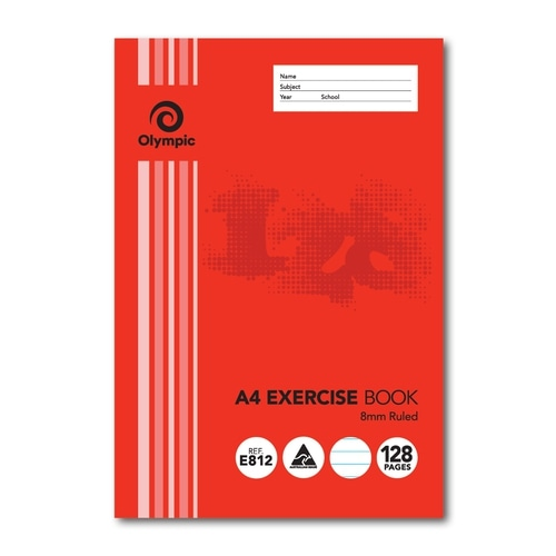 Olympic Exercise Book A4 128 Page