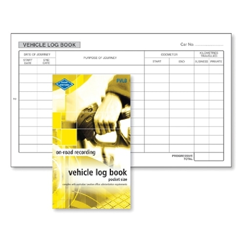 Zions Vehicle Log Book Pock Yellow Pvlb